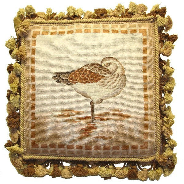 "AA- Sleeping While Wading  - 14 x 14 "" needlepoint pillow"