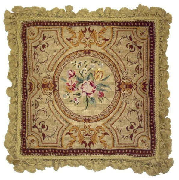 "AA- Rose Geometrics - 18 x 18 "" needlepoint pillow"