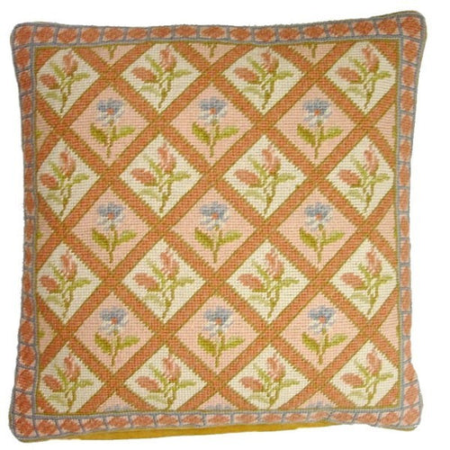 Square Diagonals - 16 x 16 in. needlepoint pillow