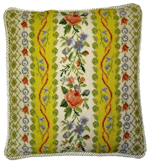 Busy Floral - Needlepoint Pillow 18x18