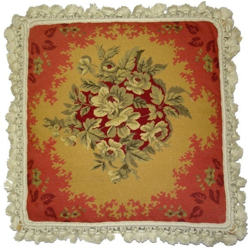 Study in Red - 20 x 20 in. needlepoint pillow