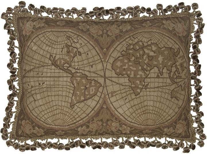 "The Anceint World - 16 x 24 "" Aubusson pillow"