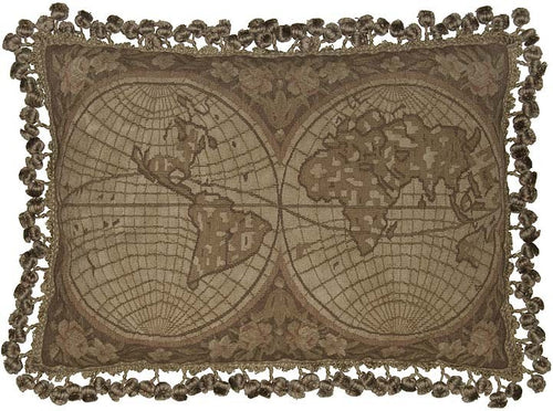 The Anceint World - 16 x 24 in. Aubusson pillow