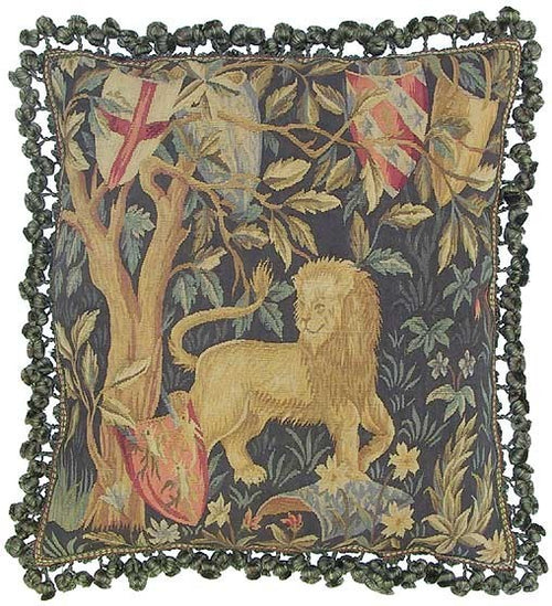 Royal Lion - 22 x 22 in. Aubusson pillow