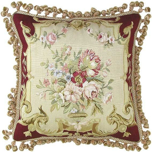 Royal Bouquets - 20 x 20 in. Aubusson pillow