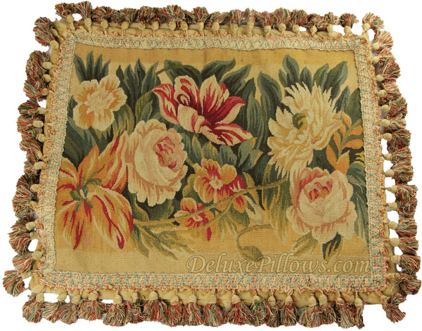 "Giant Blooms I - 17"" x 21""  Aubusson Pillow"