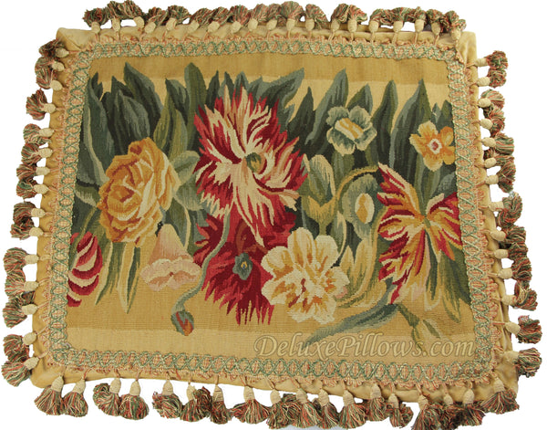 "Giant Blooms II - 17"" x 21""  Aubusson Pillow"