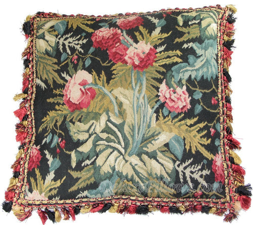 "Beauty in Bloom I - 18"" x 18""  Aubusson Pillow"
