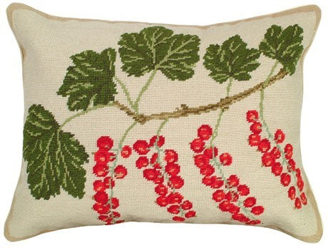 Red Currants 16 x 20 inches needlepoint pillow