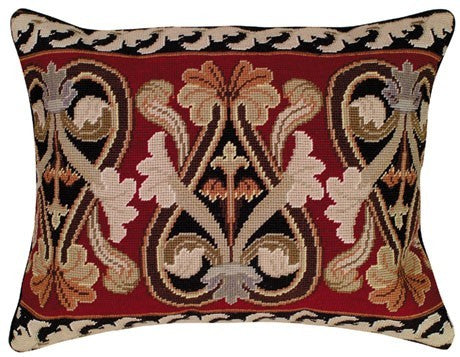 Neogothic 16 x 20 needlepoint pillow