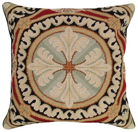 Neogothic 18 x 18 needlepoint pillow