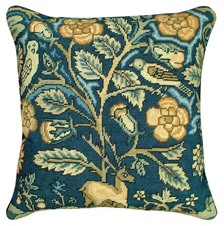 English Tapestry 18 x 18 inches inches needlepoint pillow