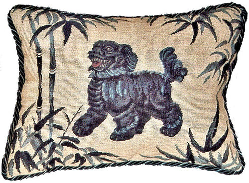 Foo Dog Facing Left - 12 x 16 in. needlepoint pillow