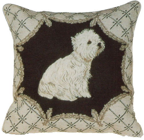 Highland - 16 x 16 in. needlepoint pillow