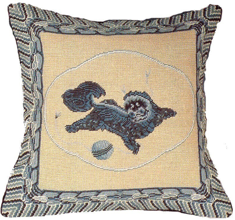"AA- QiLin - 16 x 16 "" needlepoint pillow"