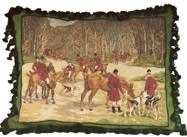 "The Gathering - 18 x 22 "" needlepoint pillow"
