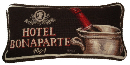 Hotel Bonaparte - 9 x 19 in. needlepoint pillow