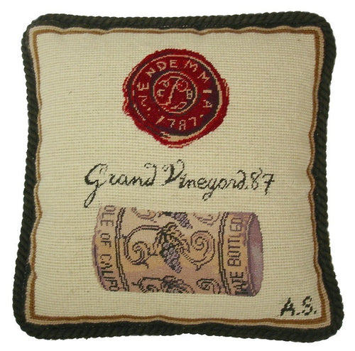 Grand Vineyard - 12 x 12 in. needlepoint pillow