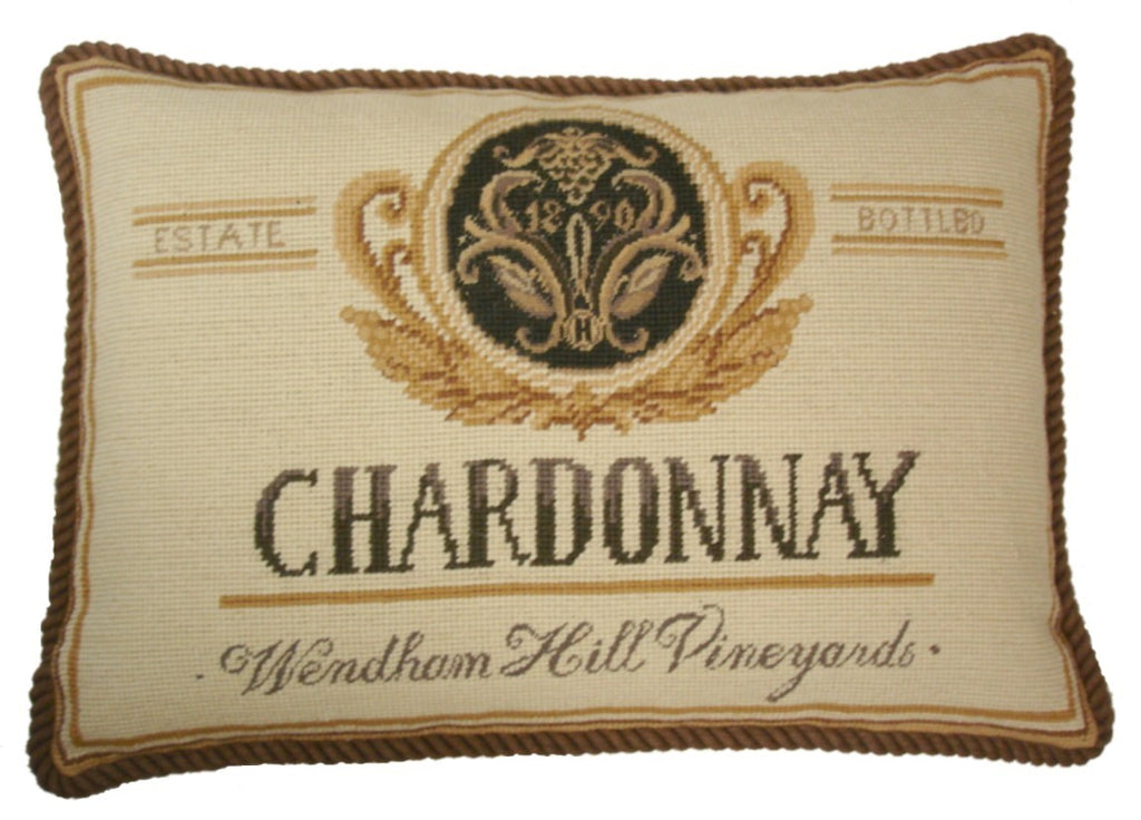 "Chardonnay - 13 x 19 "" needlepoint pillow"