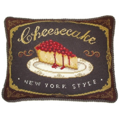 Cheese Cake - Needlepoint Pillow 15x19
