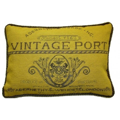 "AA- Vintage Port - 13 x 19 "" needlepoint pillow"