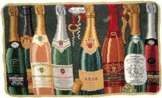 "Vino - 15 x 25 "" needlepoint pillow"