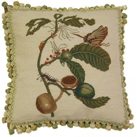 utterfly on Oak - Needlepoint Pillow 18x18
