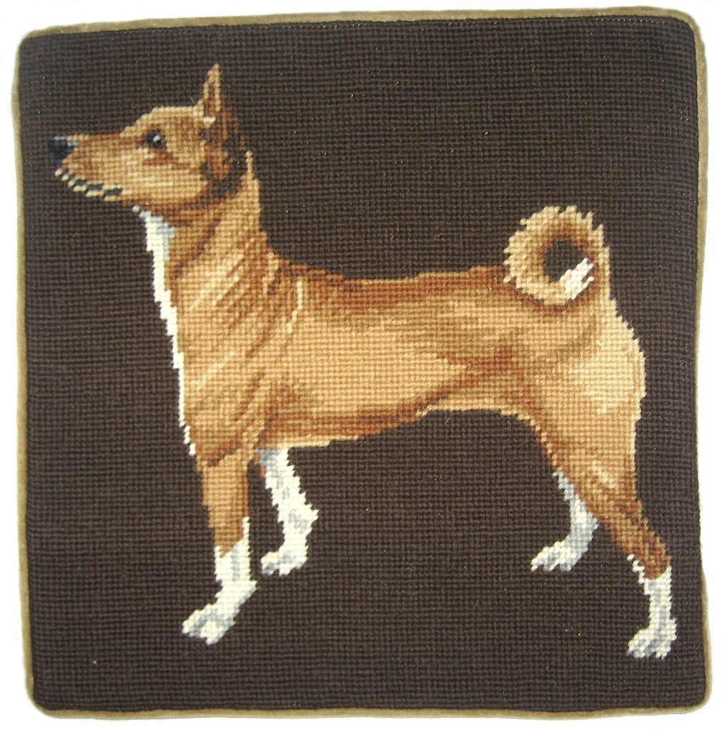 "Japeness - 13 x 13 "" needlepoint pillow"