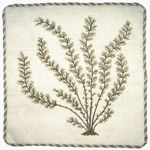 Mare's Tail - 21 x 21 in. needlepoint pillow