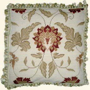 "Accents of Pinks - 20 x 20 "" needlepoint pillow"