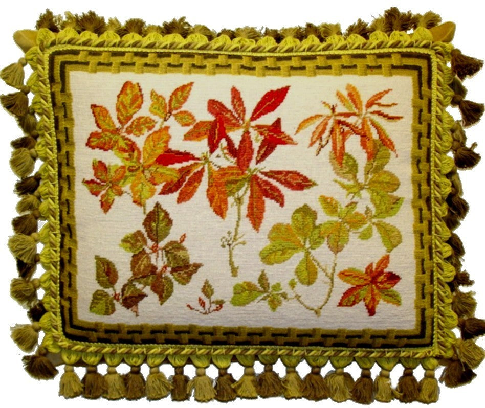 "Autumn Delight - 16 x 20 "" needlepoint pillow"