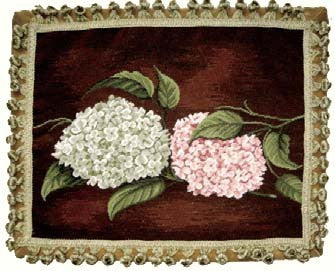 "Hydrangea of Luxury - 16 x 20 "" needlepoint pillow"