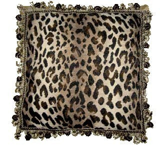 Leopard Design - 18 x 18 in. needlepoint pillow