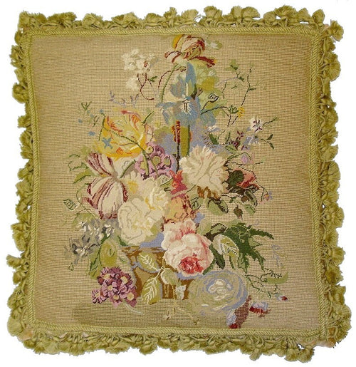 Multiple Flower Bouquet - 20x 20 in. needlepoint pillow