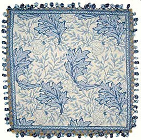 Blue Foliage - 22 x 22 in. needlepoint pillow
