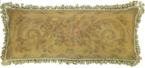 Slightly Pink and Gold - 14 x 36 in. Aubusson pillow