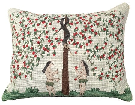 "Garden of Eden 16"" x 20"" Needlepoint Pillow"