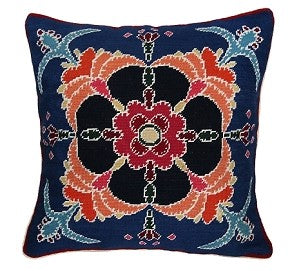 "Joyce 18"" x 18"" Needlepoint Pillow"