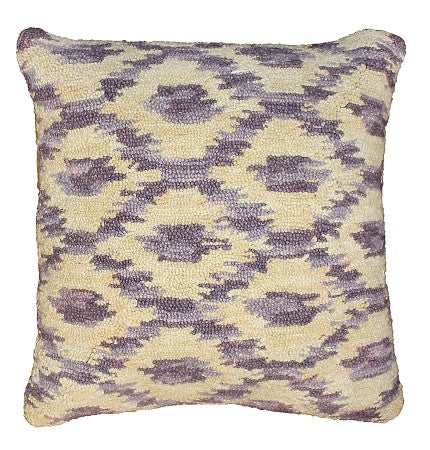"Ikat Shade 20"" x 20"" Hooked Pillow"