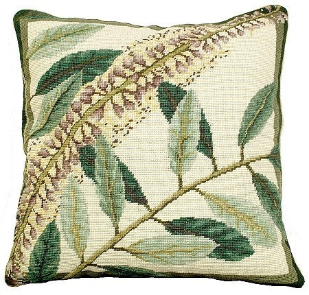 Floral Study 2 18 x18 needlepoint pillow