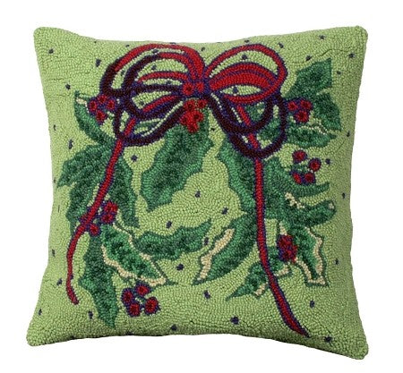 Holy Bough 18 x 18 Hooked Wool Pillow
