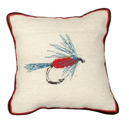 Wet Fly 12 x 12 Mixed-Stitch Pillow