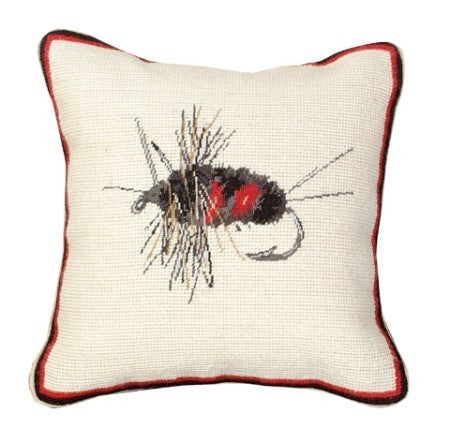 Creek Fly 12 x 12 Mixed-Stitch Pillow