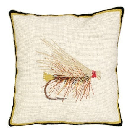 Caddis 16 x 16 inches needlepoint pillow