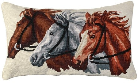 "AA- TRIO 16""x28"" needlepoint pillow"