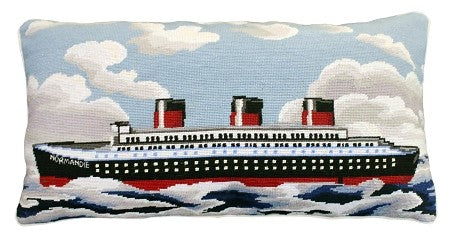 """Normandie 15"" x 28"" Needlepoint PIllow"