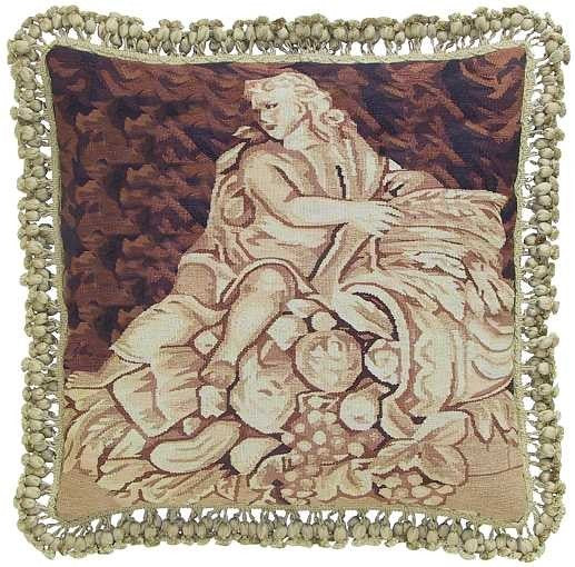 "Man Sculptured - 20 x 20 "" Aubusson pillow"