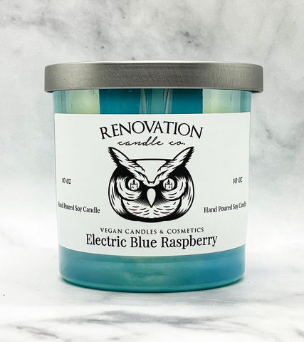 Electric Blue Raspberry Candle