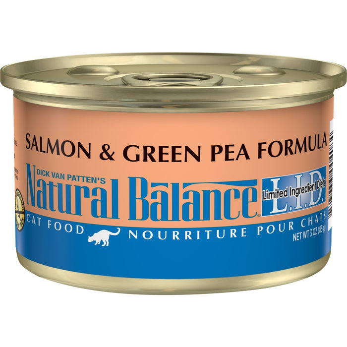 Natural Balance L.I.D. Limited Ingredient Diets Salmon and Green Pea Canned Cat Food