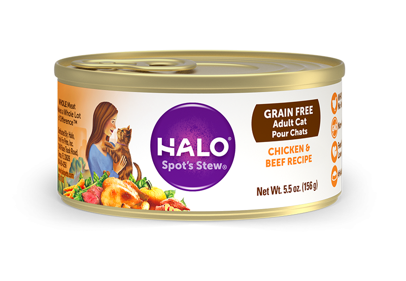Halo Holistic Grain Free Adult Chicken & Beef Recipe Canned Cat Food